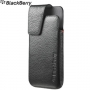 BlackBerry - Leather Swivel Holster for BlackBerry Z10, Black